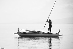 Silhouette (vincent.lecolley) Tags: monochrome fisherman blackandwhite asia philippines nikon d3300 asian man