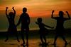 soul dance (Abhijit Biswas OV) Tags: dance childrean kuakata beach sunset dark banglades nice wonderful abhijit bangladesh dhaka khulna