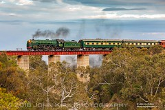 Going home (2018) (Beyond Trains) Tags: steamranger steamlocomotive steam preservedsteam preservedrailway sar 621 southernencounter southaustralianrailways currencycreekbridge 2018 rodsdown southaustralia