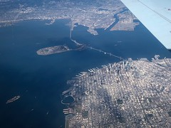 San Francisco Aerial Shot (World-viewer) Tags: beautiful nice water iphone8 iphone berkeley oakland treasureisland baybridge alcatraz window ngc travel aerial airplane sanfrancisco california unitedstates us