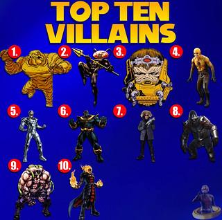 Top Ten Villains