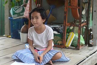 pretty girl sitting cross legged