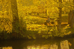E vissero per sempre felici e contenti  / And they lived happily forever (Norwich, Norfolk, United Kingdom) (AndreaPucci) Tags: norfolk uk norwich river wensum sunset girl book reading andreapucci