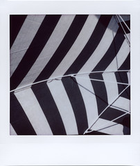 Summer time traveling (ale2000) Tags: instax instant lomoinstantsquare instaxsquare lomoinstant fuji lomography fujifilminstaxsquare square analog analogue summer estate summerlife summerporn umbrella shade lines black white ombrellone righe