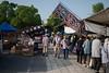 flea market at the temple #7 (kasa51) Tags: fleamarket temple people street sign kanji hiragana kyoto japan 東寺弘法市 山椒ちりめん 豆茶自然力 どてやき