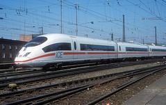 403 036  Ulm Hbf  14.04.03 (w. + h. brutzer) Tags: ulm eisenbahn eisenbahnen train trains deutschland germany ice railway zug db 403 webru analog nikon triebzug triebzüge