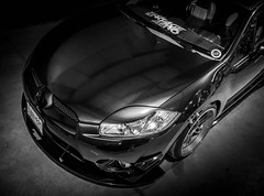 ECLIPSE (Dave GRR) Tags: mitsubishi eclipse monochrome mono bw fitted 2018 toronto rims bodykit carbon wrap olympus custom tuned