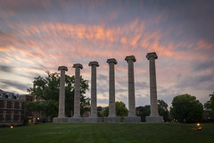 The Columns (Notley Hawkins) Tags: httpwwwnotleyhawkinscom notleyhawkinsphotography notley notleyhawkins 10thavenue mizzou columns thecolumns campus universityofmissouri columbiamissouri bocomo boonecountymissouri july sky clouds cloudysky nd ndfilter neutraldensity neutraldensityfilter longexposure grass tree francisquadrangle sunset nisi nisifilter 6stop
