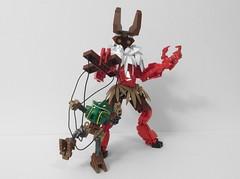 Koro-Koro: Jubilant Spirit of the Festival (AlexParkDesigns) Tags: beast animal creature spirit demon play dance fun festival figure toy lego bionicle technic scene biocup2018