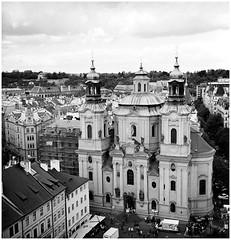 Prague (Boris Boogiebass) Tags: prague czechrepublic rolleiflex rolleiflex35f xenotar7535 6x6 squareformat waistlevel city citylandscape 120mmfilm bw blackandwhite adoxsilvermax filmphoto film