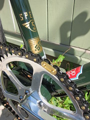 Crank,BB_8984 (Hoopdriver) Tags: hoopdriverbicycles custombuild pashley luggedsteel madeinengland reynolds531 suicideshifter brooksswift pathracer speed5 somafabrications lauterwasserbar sturmeyarcher veloorange izumichain nitto crane wingnut numberplate