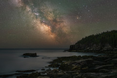 Acadia Coast at Night (Mike Ver Sprill - Milky Way Mike) Tags: acadianationalpark coastline coastal coast milky way galaxy universe mike ver sprill stars starry landscape nature seascape maine rocks rocky water sea ocean night sky dark skies astronomy astronphotography long exposure ioptron star tracker