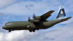 ZH866 RAF C130-J HERCULES LANDING NEWCASTLE AIRPORT (toowoomba surfer) Tags: raf aviation aircraft aeroplane ncl
