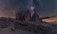 Tre cime milky way (19MilkyWay89) Tags: landscape milky way sky night dark mountains himmel sterne nacht