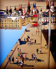 Dancing on the ceiling (Dantown) Tags: harbour vieuxport market crowd city upsidedown architecture foster abstract creative nikon optical mindgame illusion marseille france