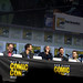 Robert Singer, Andrew Dabb, Misha Collins, Jared Padalecki, Jensen Ackles, Alexander Calvert, Eugenie Ross-Leming & Brad Buckner