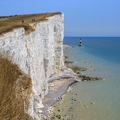 Beachy Head (AndMakeItSnappy) Tags: beachyheadeast sussexenglish channellandmarkenglandbeauty spot seascape lighthouse sea blue beach chalk