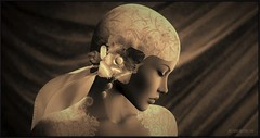 Blushing Bride (Moxxie Kalinakova) Tags: sepia retro vintage wedding bride beauty moxxie kalinakova
