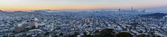 wildfire smoke filled city panorama (pbo31) Tags: bayarea california nikon d810 color august 2018 summer boury pbo31 sanfrancisco city urban bernalheights over view smoke wildfire rooftops sunset skyline salesforce missiondistrict panoramic large stitched panorama orange blue