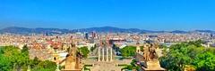 Barcelona als peus de Montjuic (bertanuri bcn) Tags: bcn barcelona lgg6 lg cat catalonien cataluña catalonia catalunya montjuic hdr blue blau azul bertanuri bertanuribcn objetivoexplored explored explore