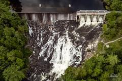 High Falls - Bancroft, Ontario (Richard Adams Photography) Tags: aerial aerialphotography falls waterfall water dam bancroft ontario canada tree