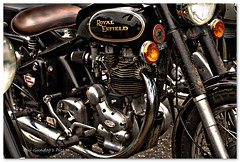 .... great days! (Oul Gundog) Tags: royal enfield motorbike wheels comber co down ulster northern ireland uk castle espie engine metal