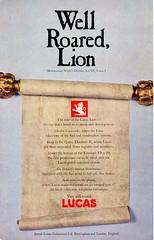 Lucas Advertisement (British Motor Industry Heritage Trust Archive) Tags: lucascollection lucas advertisement socialhistory vintage history theatre arts rsc royalshakespearecompany shakespeare midsummernightsdream