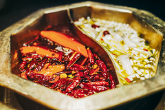 sichuan spicy ma la hot pot (Tu_images) Tags: boil boiled boiling broth chili chilis china chinese cook cooked cuisine culinary culture dining eat eating food gourmet hot hotpot ingredient ingredients la ma meat pepper pot raw restaurant shanghai sichuan simmering soup spicy