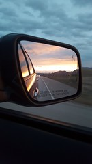 April 13, 2018 - Sunset in the mirror. (Anika H)