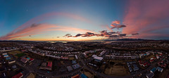 Reykjavík at sunset (Arnar Bergur) Tags: breiðholt landscape sunset buildings outdoor panorama clouds iceland summer colorful aerialphotographydrone urbancity mavicpro city reykjavík drone houses ísland capitalregion is
