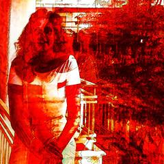 regina (j.p.yef) Tags: peterfey jpyef yef people woman portrait regina quad iphone digitalart red black square photomanipulation bestportraitsaoi