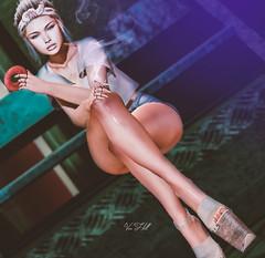 ◈№.385 - ain't your mama (αlιcα r. vαɴ нell) Tags: blueberry besom catwa maitreya equal treschic trés chic event sl secondlife girl donut cigarette
