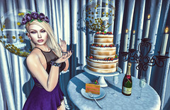Its Always a Party If You Have Cake ! (Sparkle Mocha) Tags: {sese} trunk show fruit cake wedding table avatar secondlife exile paperdolls l'etre realevil industries limit 8 firestorm maitreya
