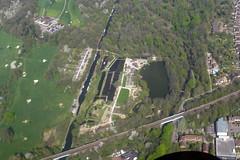 Cassiobury Lock, Watford (piktaker) Tags: herts hertfordshire watford cassioburylock inlandwaterways grandunioncanal cessna cessna152 seawingflyingclub canal cassioburypark britishwaterways lock