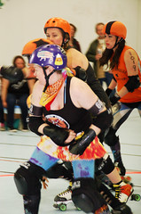 077 (Bawdy Czech) Tags: lcrd lava city roller dolls spit fires basin bombers bend oregon or skate wftda flat track april 2018 bout