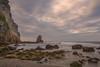Atardecer. (Amparo Hervella) Tags: playadelportizuelo asturias españa spain nube roca atardecer arena naturaleza color largaexposición d7000 nikon nikond7000