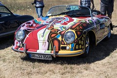 Porsche 356 Cabrio (MLopht | Dortmund) Tags: auto kfz car autos cars oldtimer classic oldtimershow porsche 356 cabrio porsche356 jamesdeanporsche sonly alpha 6300 sony ilce bunt graffiti