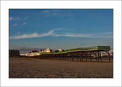 Lytham St Annes Pier (prendergasttony) Tags: sand sunset jetty steel water beach tonyprendergast lytham holiday vacation d7200 fylde coast coastal nikon
