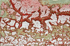 Chipped Red Paint (FotoGrazio) Tags: chippedpaint artofdecay neglect decay old abstract aged colorful red curb texture phototoart paint photoeffect deterioration waynestevengrazio rot waynegrazio macro beautyofdecay oldpaint colors pattern closeup fotograzio waynesgrazio surreal