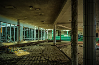 Abandoned fun spa - The shallow water area