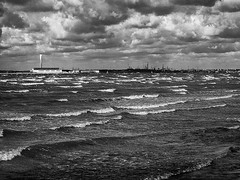 Morning after the Heatwave Broke (fstop186) Tags: storm waves drama sky fawley tower powerstation solent whitecaps