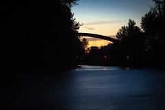 Baybrook Bridge - KBMOD Photo Challenge (iflanzy) Tags: boise bridge greenbelt idaho kbmod longexposure river sunset
