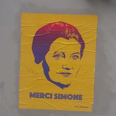 Merci Simone (mekron) Tags: simoneveil mercisimone streetartinparis pasteup