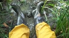 Noras and Rainwear (rubberboy1990) Tags: gummistiefel rainboots rubberboots rainwear rubbergloves matsch schlamm mud marigold gummihandschuhe