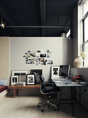Light and Shadow: Photographer Pia Ulin at Home in Brooklyn (inspiration_de) Tags: brooklyn dark desk homeoffice office photography workspace