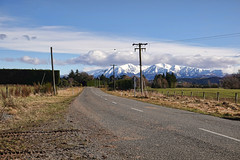 Country road..... (flying-leap) Tags: newzealand northcanterbury nz southisland landscape the4seasons cloudsstormssunsetssunrises clouds 4winter winter mountainrange road sony sonydscrx10m4 sonydscrx10iv sonyrx10iv mtoxfordnz pasture farm countryroad scavenger14 rural