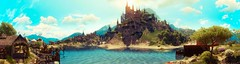 """""""Welcome to Toussaint."""" (Xenolith3D) Tags: witcher3wildhunt thewitcher toussaint forest wood tree sky roach screenshot hd 4k pc panorama nvidiaansel nvidia virtualphotography colorful nature photomode gamephotography beauclairpalace water castle sun light geraltofrivia wolf fantasy geralt palace building"""