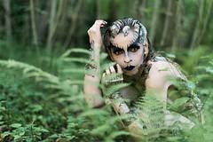 "TEATRONATURA ""The mutation"" (valeriafoglia) Tags: reptile snake mutation model makeup dark dakness swamp wood forest fantasy art atmosphere amazing stylist surreal design styling photography nature light"