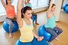 Aktywność fizyczna w ciąży. Co wolno, a z czego należy zrezygnować? (mmanuals) Tags: pregnant woman sport fitness dumbbell exercise ball gym pregnancy happy exercising yoga pilates group female fit fitball balance young wellbeing physical healthy belly maternity expecting expectation motherhood mother people person concept indoors workout prenatal gymnastics lifestyle beautiful training smiling bodyball gymnastic physio stability therapy aerobic birth weight hispanic estonia