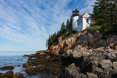 Bass Harbor Head Light (Tim Devine Photography) Tags: sonya7riii ilce7rm3 bassharborheadlight mountdesertisland maine lighthouse rocks ocean sea sonyfe35mmf28za sel35f28z